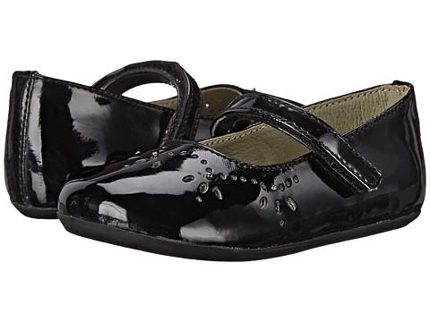 Pazitos - Royal MJ PU (Toddler) (Black) Girls Shoes