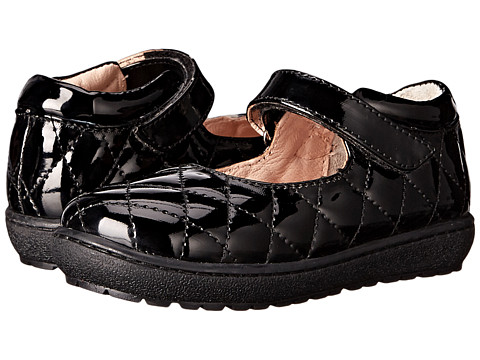 Pazitos - Quilt MJ PU (Todder/Little Kid) (Black) Girls Shoes