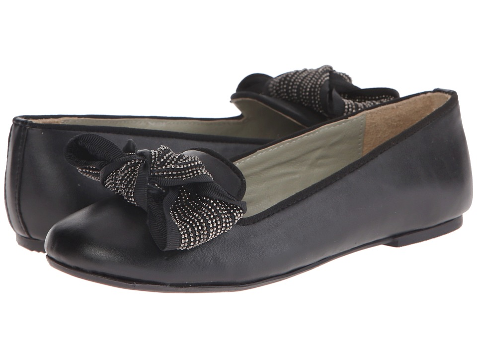 Pazitos - The Big Bow BF PU (Little Kid/Big Kid) (Black) Girls Shoes