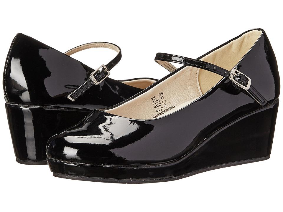 Pazitos - The Strap Platform PU (Little Kid/Big Kid) (Black) Girls Shoes