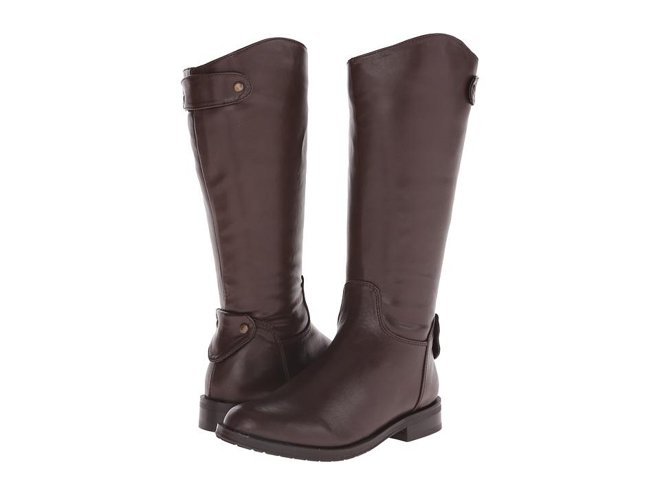 Pazitos - Calvary Boot PU (Little Kid/Big Kid) (Brown) Girls Shoes