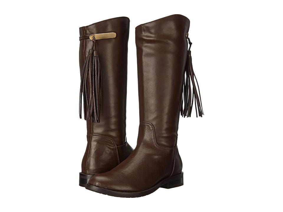 Pazitos - Stirrup Boot PU (Little Kid/Big Kid) (Brown) Girls Shoes
