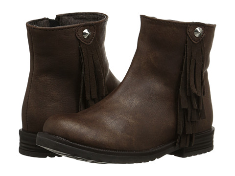 Pazitos - Twin Tassle Bootie PU (Toddler/Little Kid) (Brown) Girls Shoes