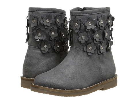 Pazitos - Fantasy Flower Boot PU (Toddler/Little Kid) (Grey) Girls Shoes