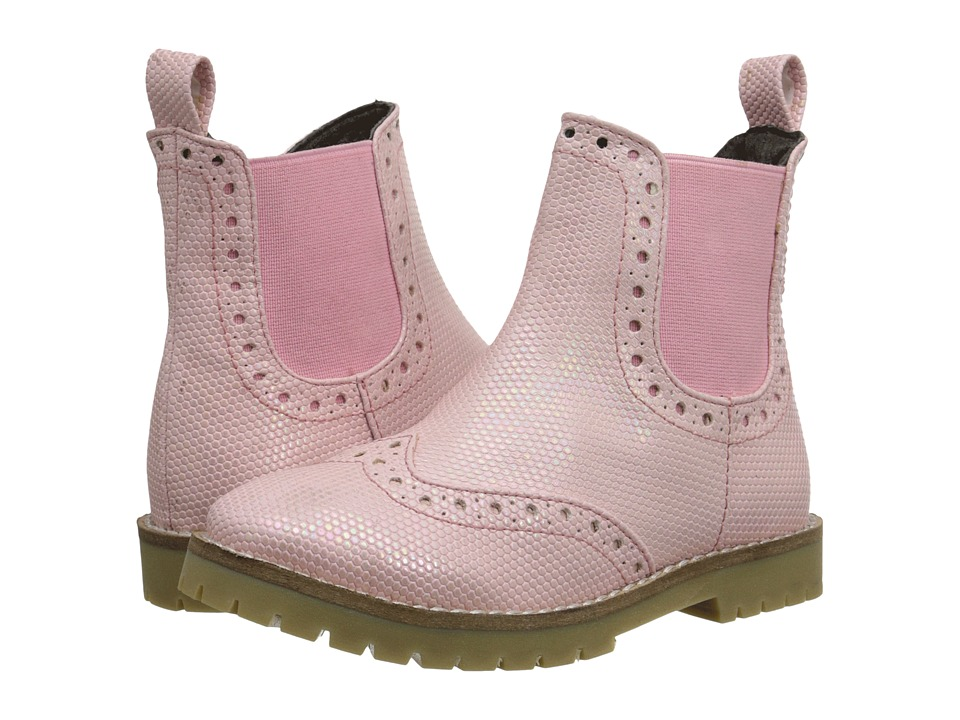 Pazitos - Wingtip Bootie PU (Toddler/Little Kid/Big Kid) (Pink) Girls Shoes