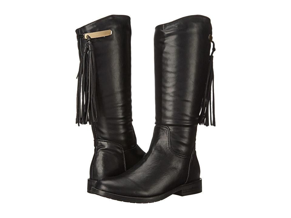 Pazitos - Stirrup Boot PU (Little Kid/Big Kid) (Black) Girls Shoes