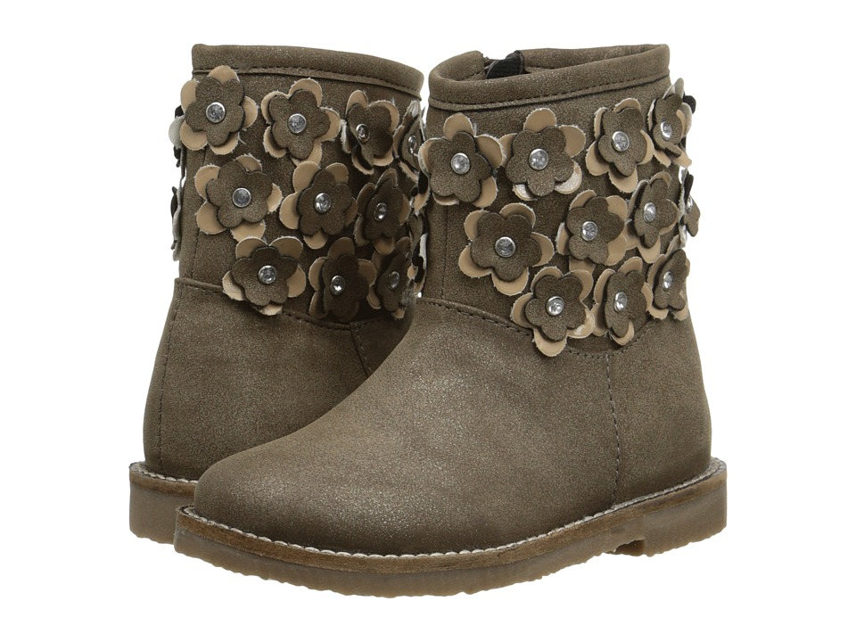 Pazitos - Fantasy Flower Boot PU (Toddler/Little Kid) (Taupe) Girls Shoes