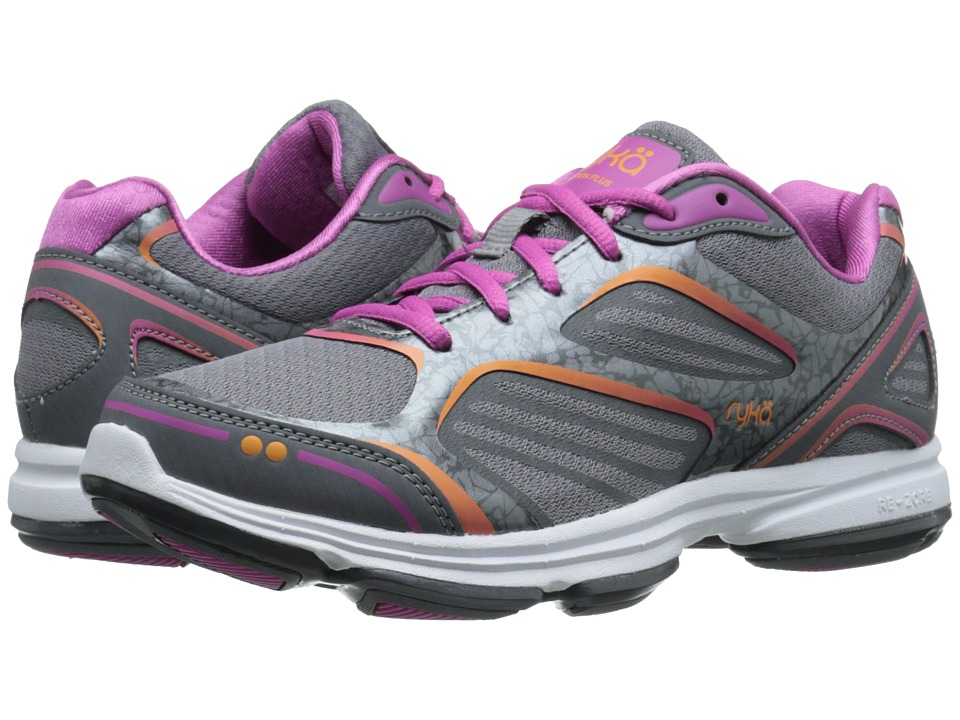 Ryka Devotion Plus (Frost Grey/Steel Grey/Rose Violet/Rhythm Orange) Women