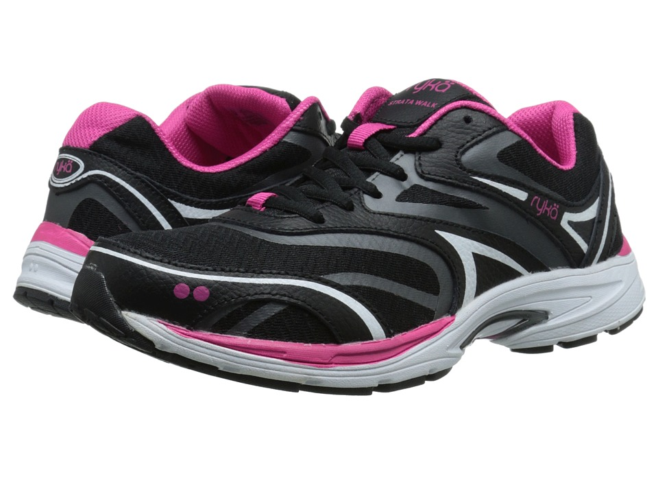 Ryka - Strata Walk (Black/Meteorite/Ryka Pink/White) Women's Shoes