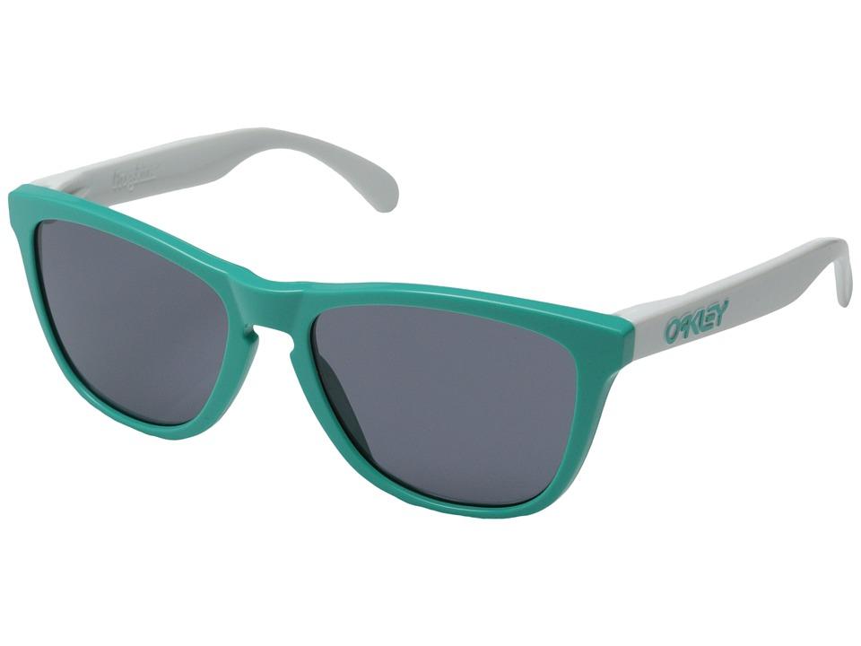 Oakley - Frogskins (Seafoam/Grey) Plastic Frame Sport Sunglasses