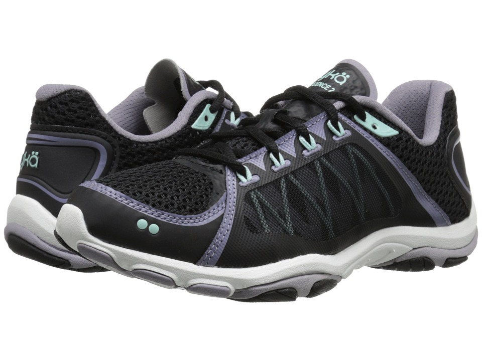 Ryka - Influence 2 (Black/Purple Ash/Mint Ice) Women's Shoes