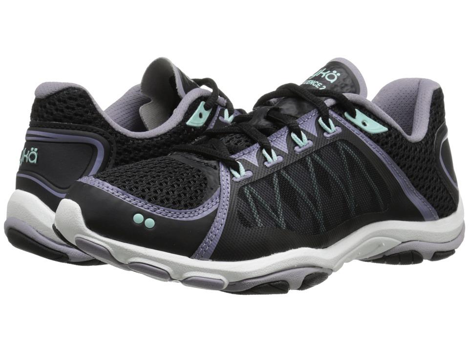Ryka - Influence 2 (Black/Purple Ash/Mint Ice) Women's Shoes