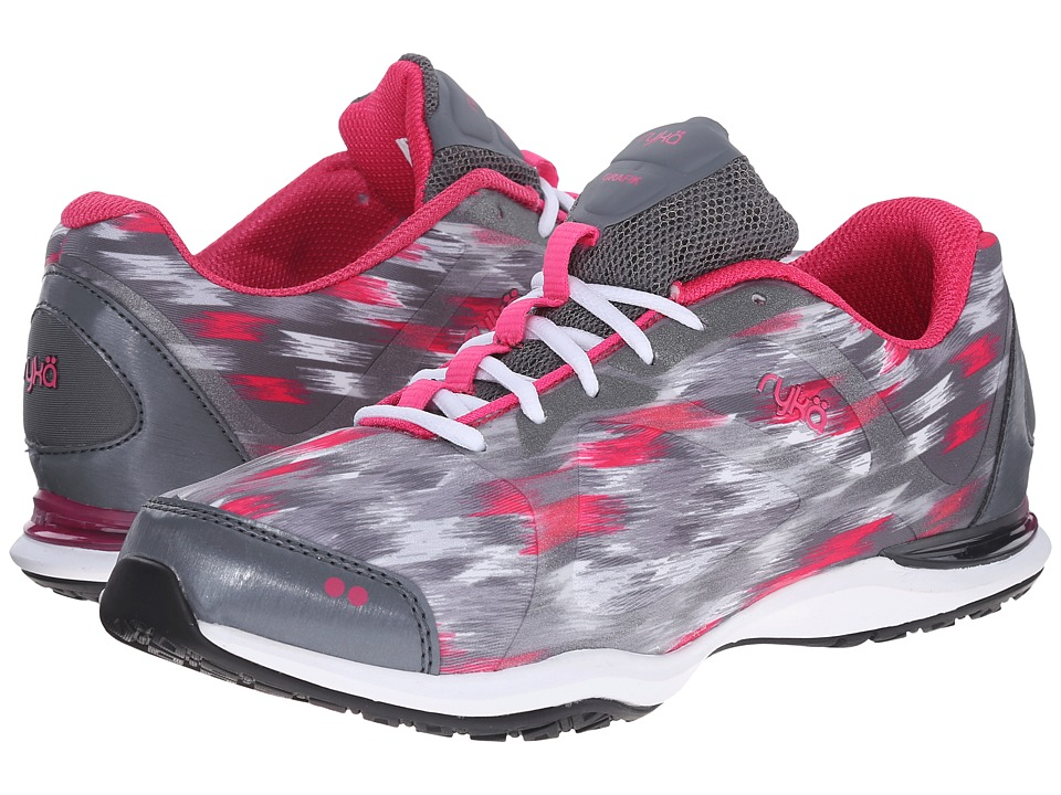 Ryka - Grafik (Iron Grey/Meteroite/Frost Grey/Ryka Pink/White) Women's Shoes