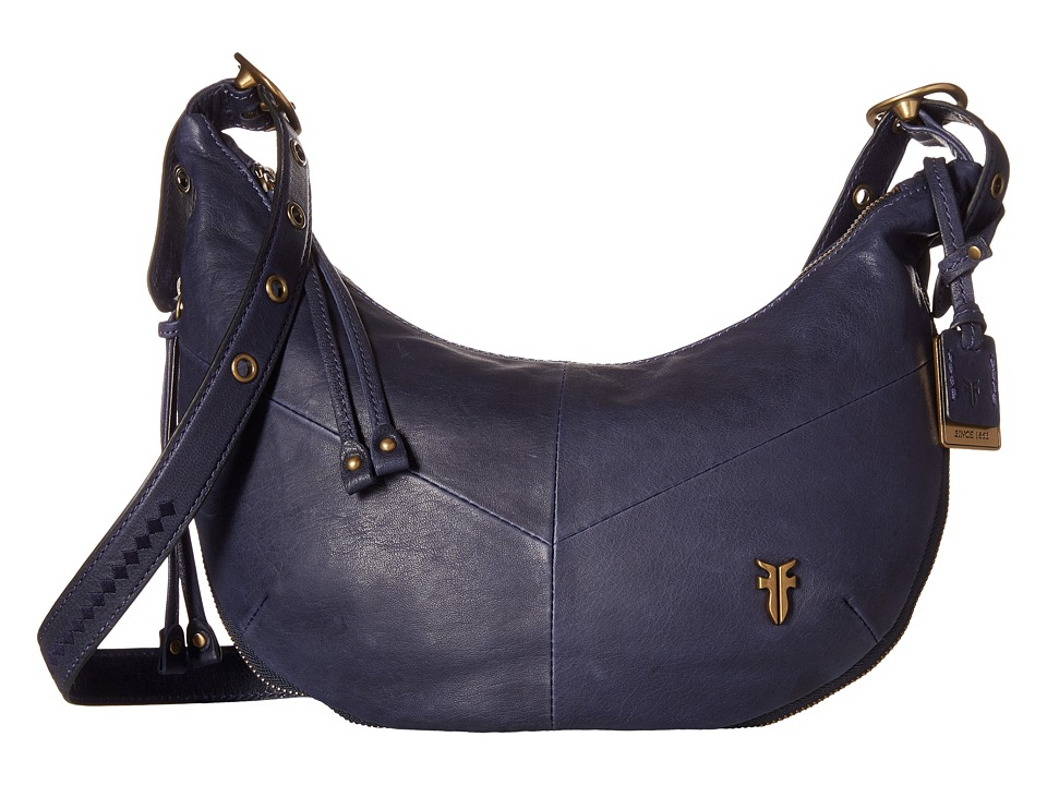 Frye - Belle Bohemian Crossbody (Indigo Oiled Vintage Full Grain) Cross Body Handbags