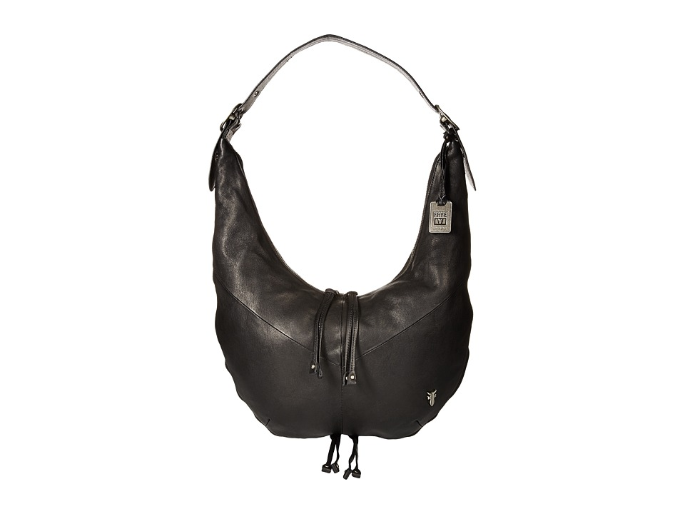 Frye - Belle Bohemian Hobo (Black Oiled Vintage Full Grain) Hobo Handbags