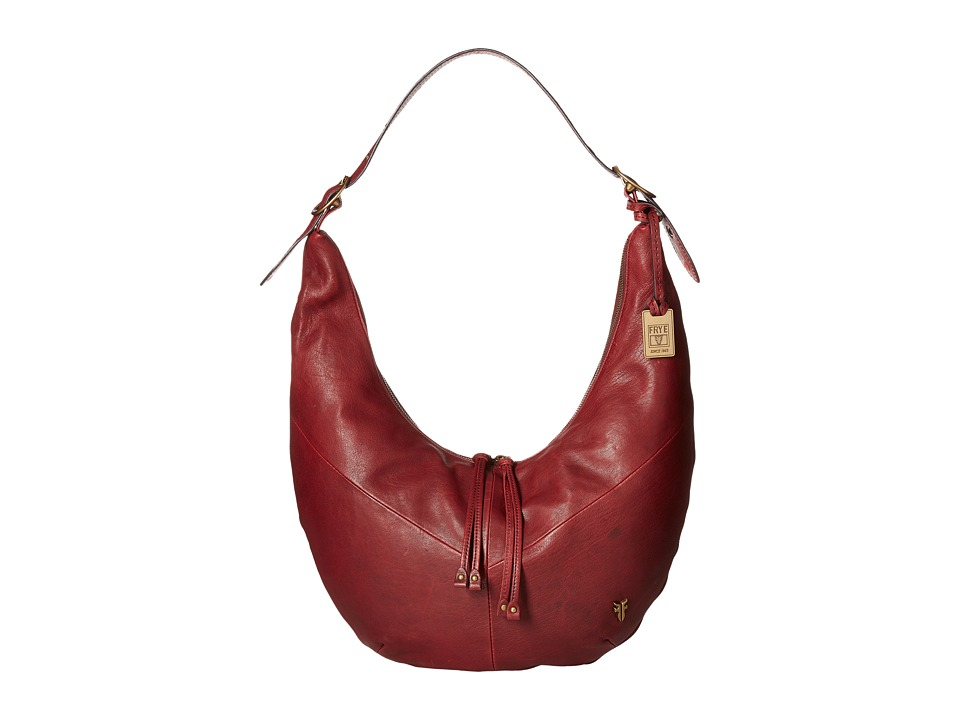 Frye - Belle Bohemian Hobo (Wine Oiled Vintage Full Grain) Hobo Handbags