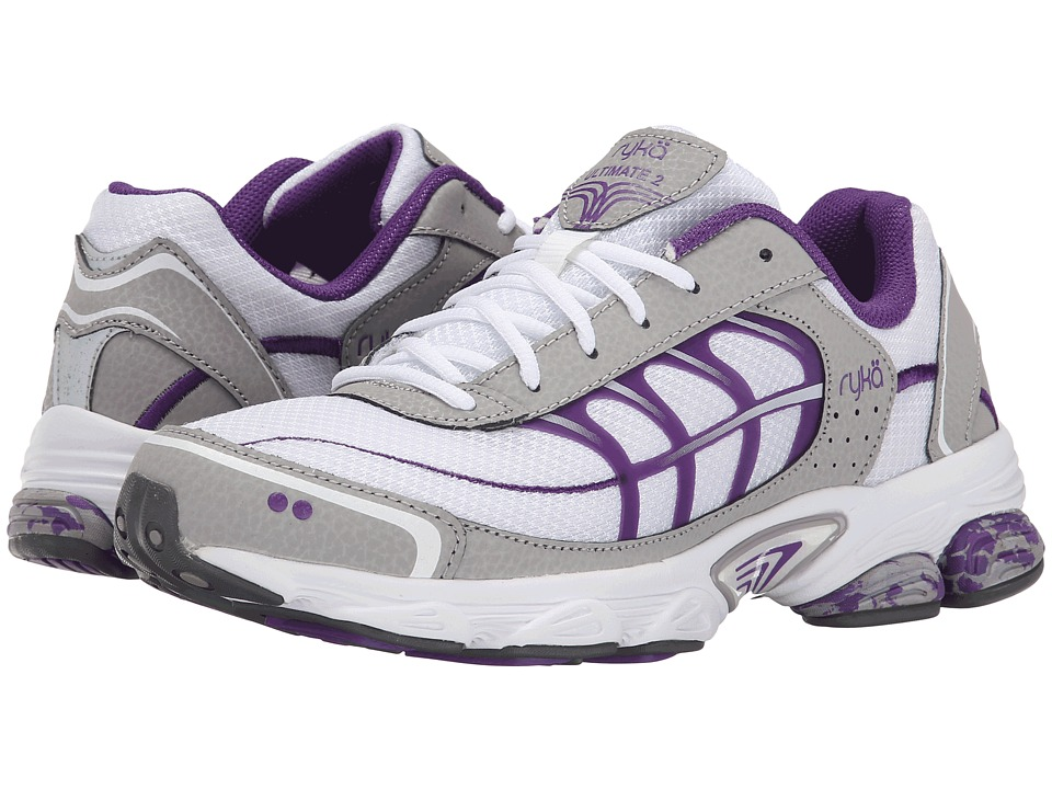 Ryka - Ultimate 2 (White/Silver Cloud/Blast Purple/Steel Grey) Women's Shoes