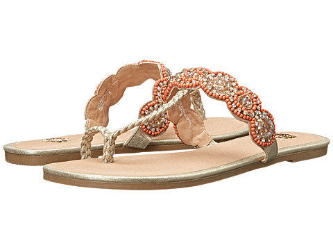 Yellow Box - Jamaica (Gold) Women's Sandals
