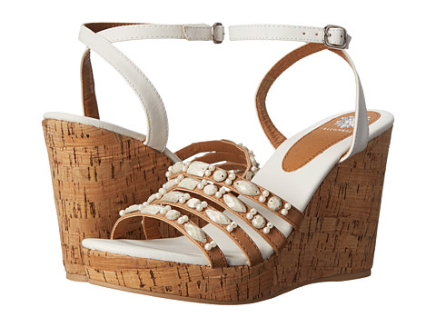 Yellow Box - Kerr (White) Women's Wedge Shoes