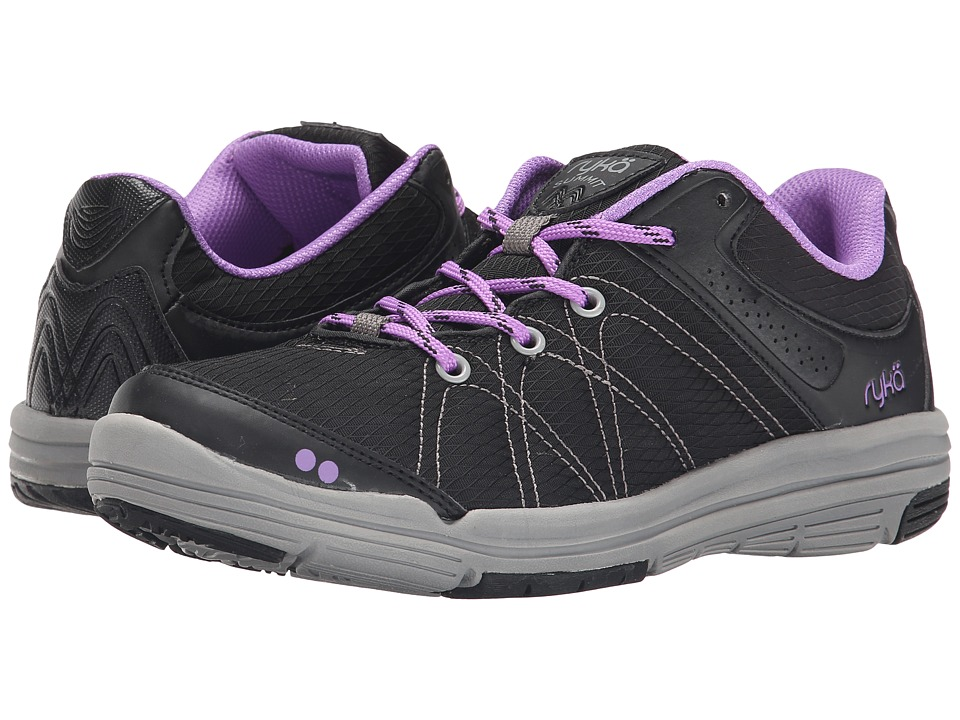 Ryka - Summit (Black/Forest Grey/Deep Lilac) Women's Shoes