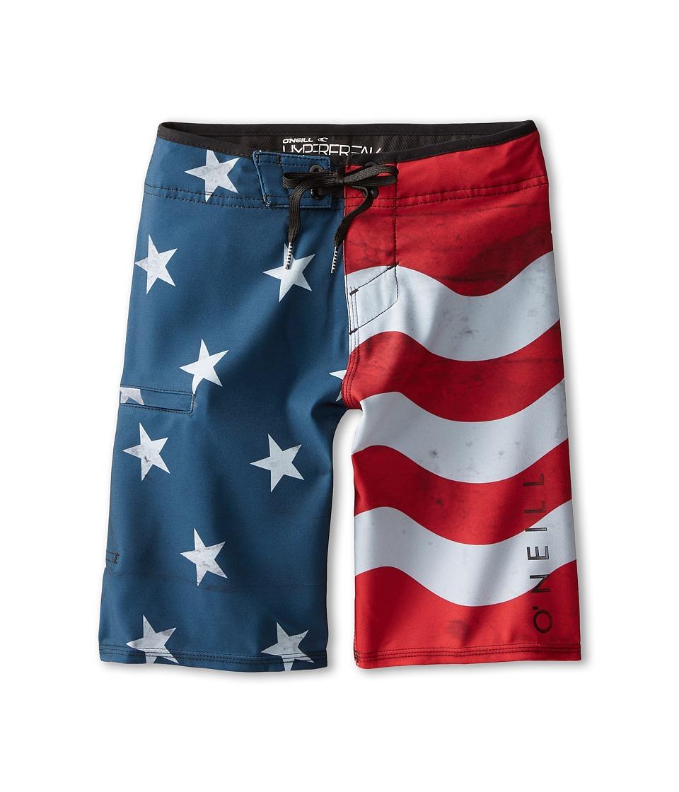 O'Neill Kids - Santa Cruz Stretch (Big Kids) (Red/White/Blue) Boy's Swimwear