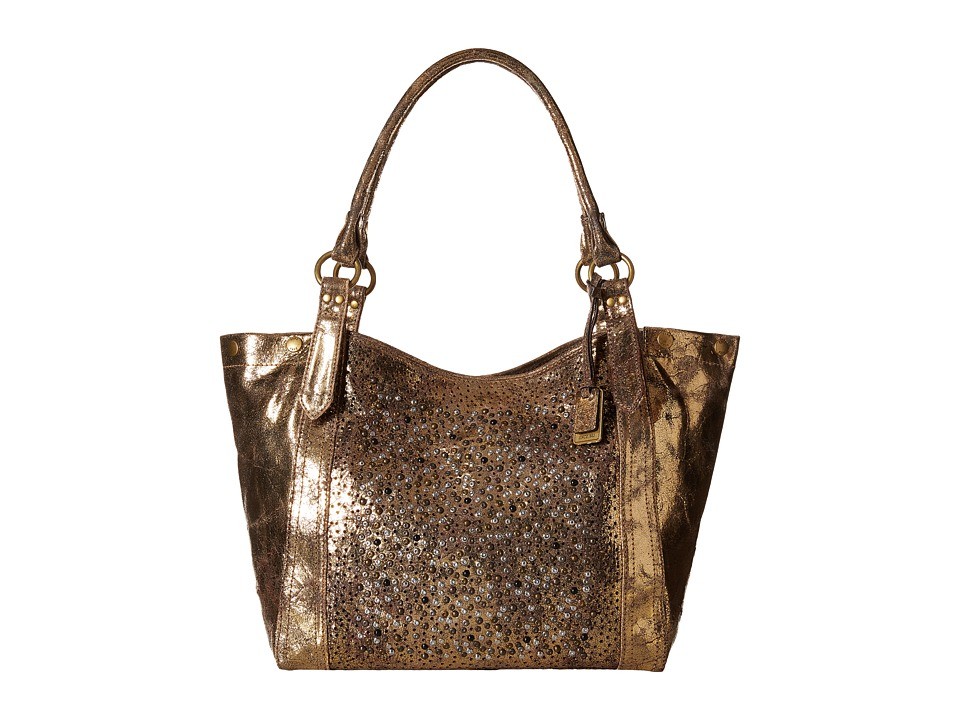 Frye - Deborah Shoulder (Gold Metallic Vintage Leather) Shoulder Handbags