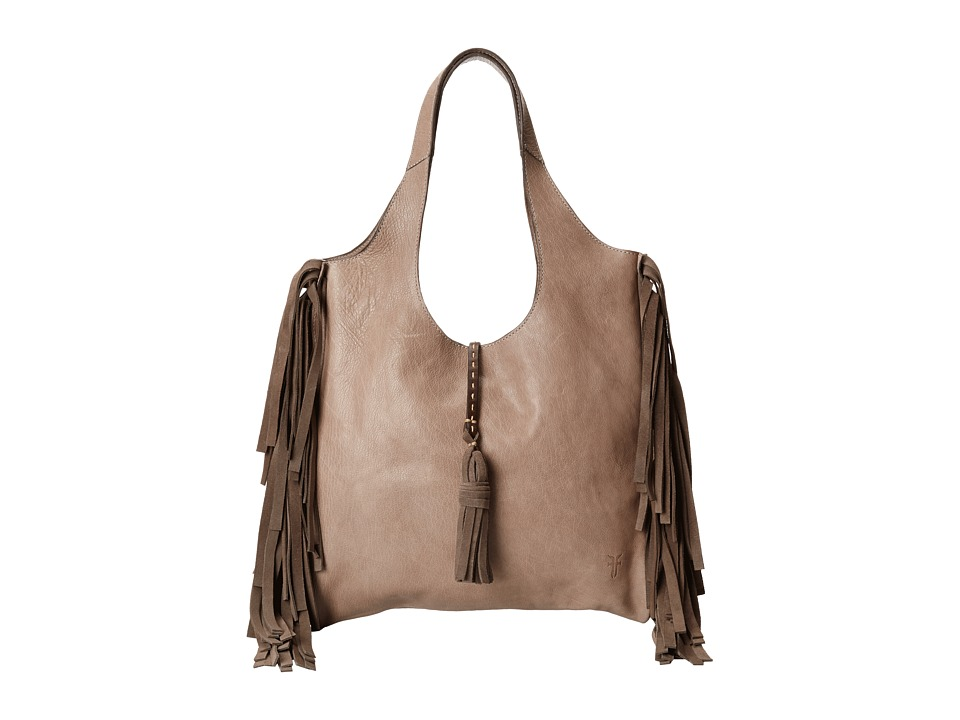 Frye - Farrah Fringe Bag (Grey Buffalo Leather) Top-handle Handbags