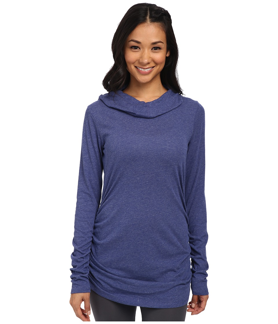 Lucy - Raise The Bar Long Sleeve Top (Sodalite Blue Heather) Women's Long Sleeve Pullover