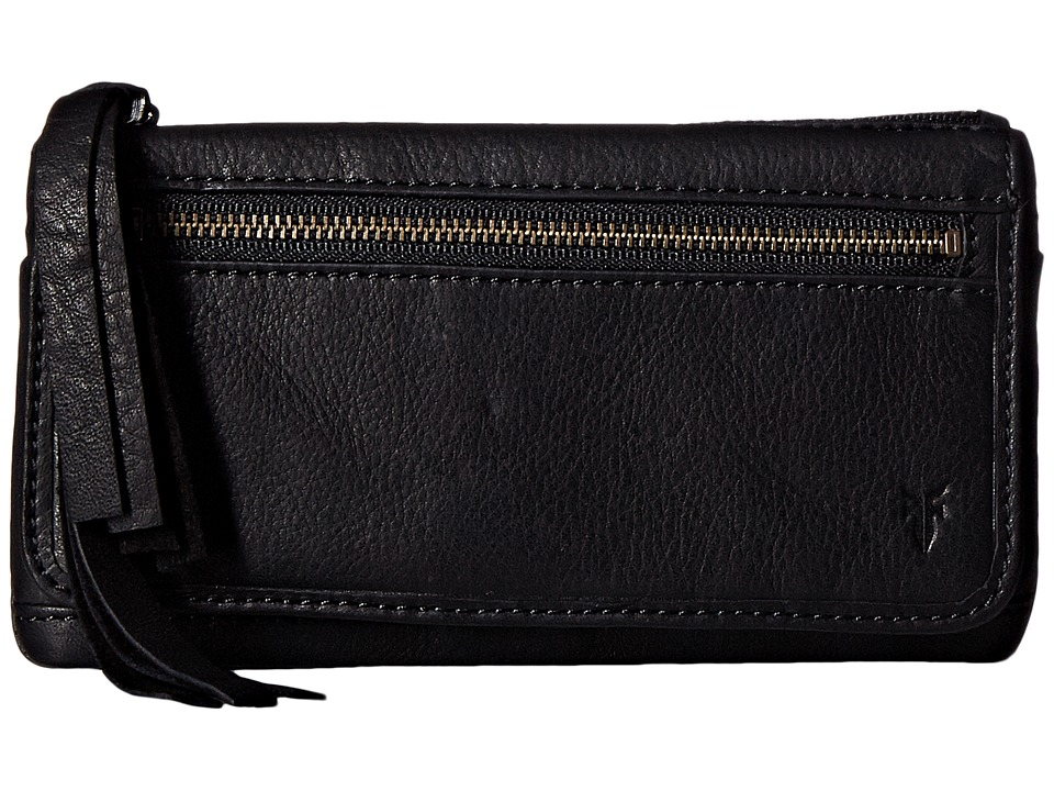 Frye - Heidi Wallet (Black Soft Vintage Leather) Wallet Handbags