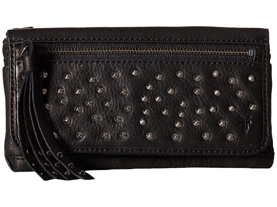 Frye - Heidi Stud Wallet (Black Soft Vintage Leather) Wallet Handbags