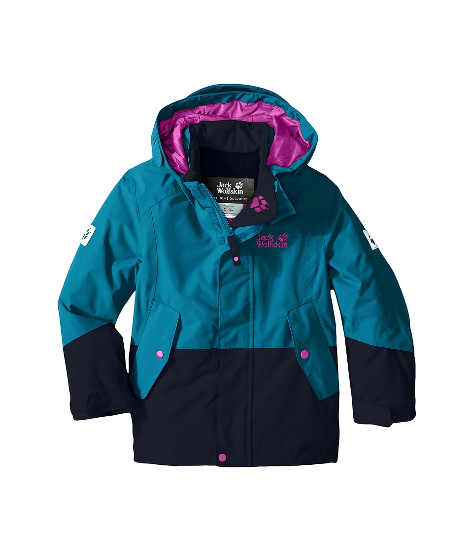 Jack Wolfskin Kids - Snow Ride Texapore Insulated (Infant/Toddler/Little Kid/Big Kid) (Dark Turquoise) Girl's Coat