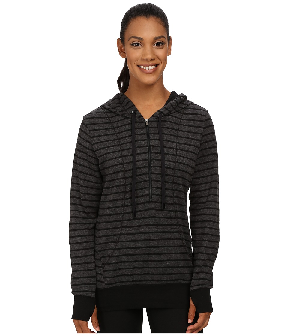Lucy - Sexy Sweat Half Zip (Asphalt Heather/Lucy Black Stripe) Women's Sweatshirt