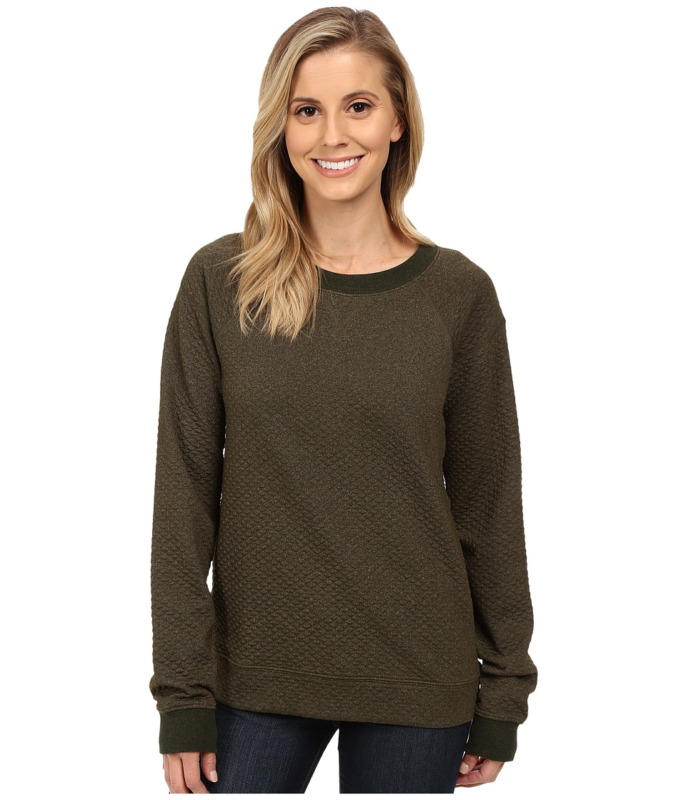 Lucy - Quilted Inner Strength Long Sleeve (Forest Heather) Women
