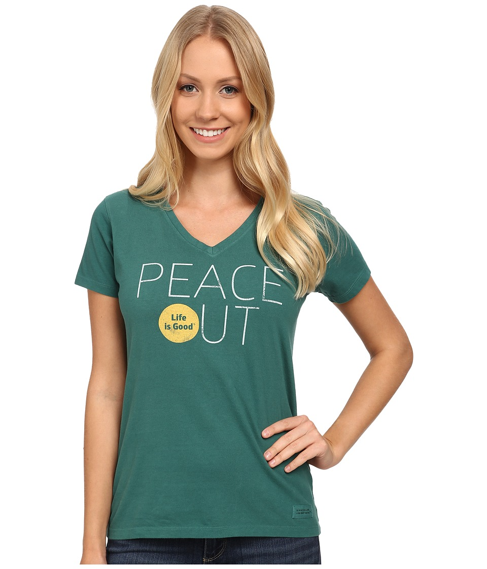 Life is good - Crusher Vee (Hunter Green) Women's T Shirt