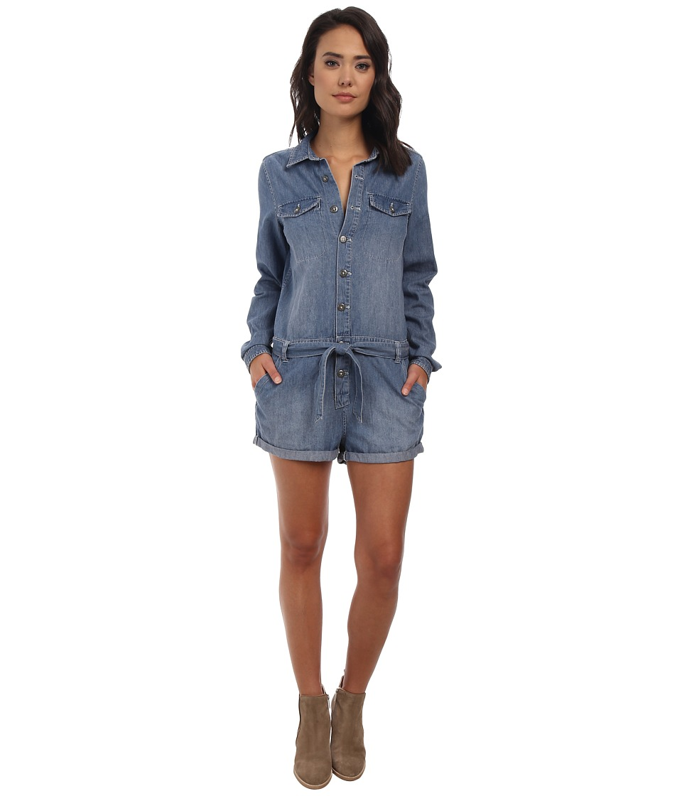 Free People - Chambray Drapey Shortall (Chambray 2) Women's Jumpsuit & Rompers One Piece