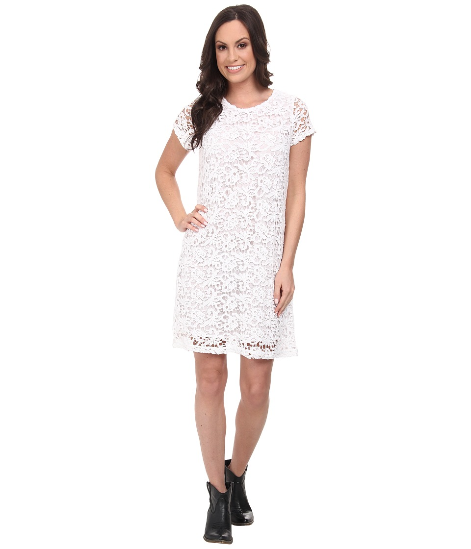 Lucky Brand - Lace Shift Dress (Lucky White) Women