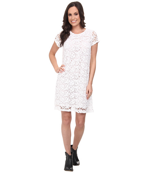 Lucky Brand - Lace Shift Dress (Lucky White) Women's Dress