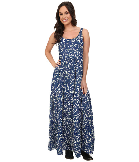 Lucky Brand - Blue Vines Maxi Dress (Blue Multi) Women's Dress