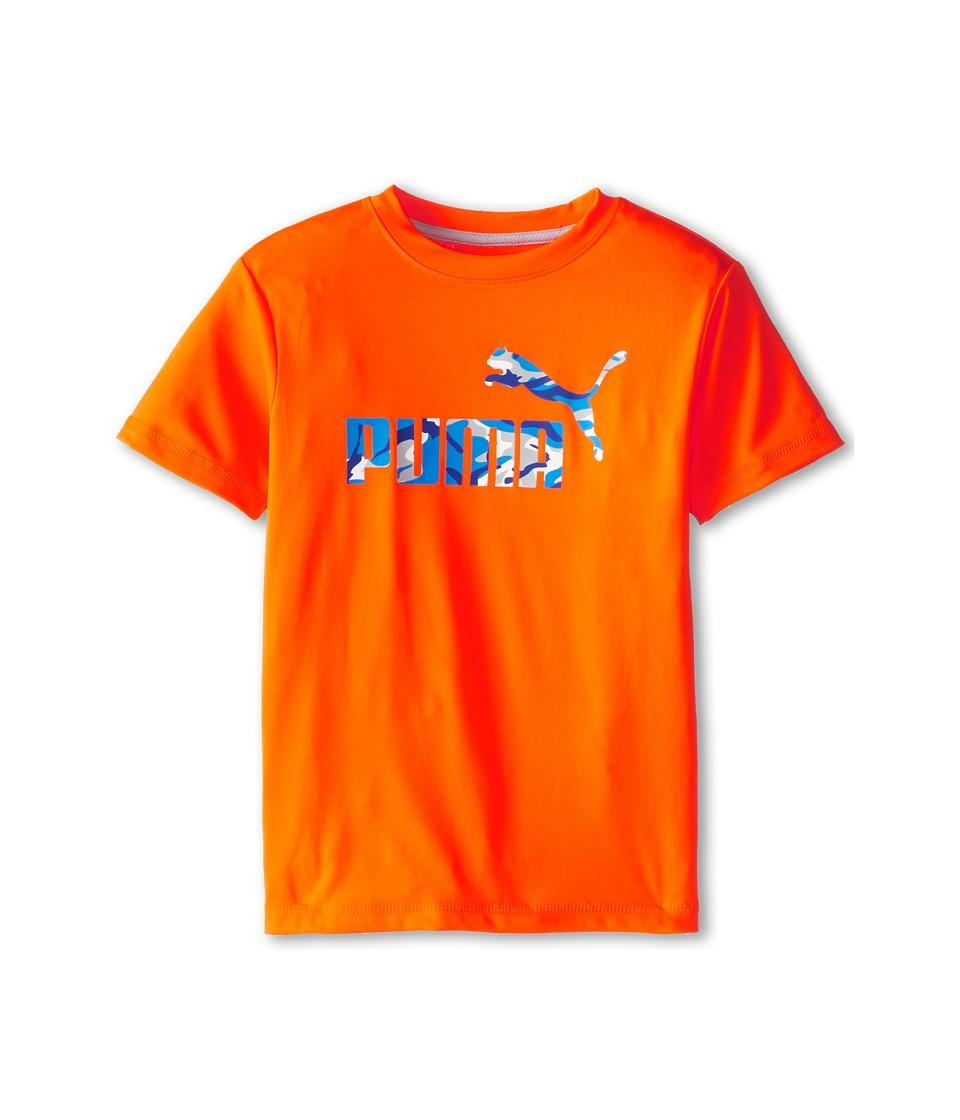 Puma Kids - No.1 Logo Tee (Little Kids) (Fire Orange) Boy's T Shirt