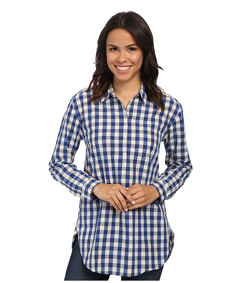 Lucky Brand - Key Item Gingham (Blue Multi) Women's Clothing