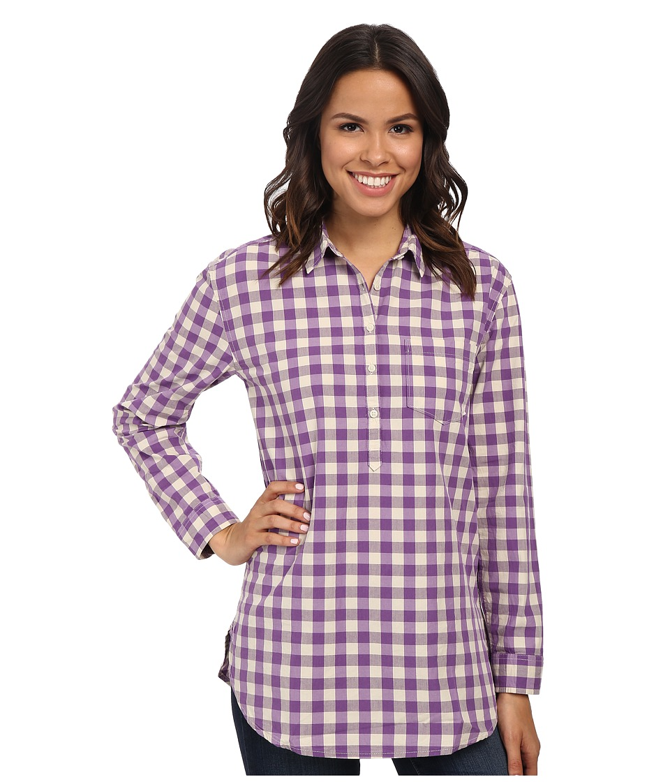 Lucky Brand - Key Item Gingham (Purple Multi) Women's Clothing