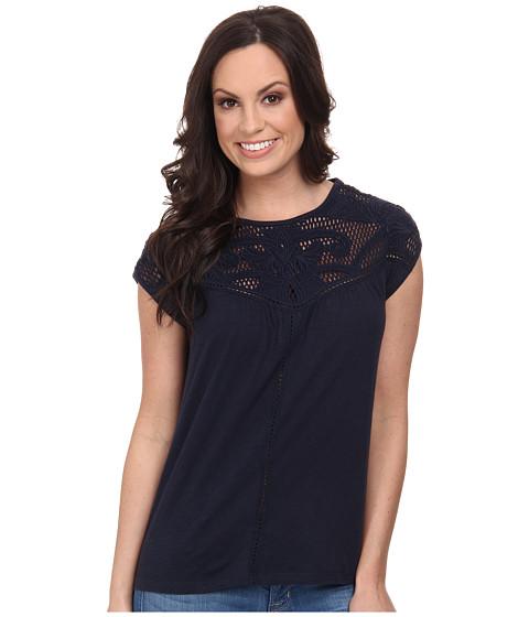 Lucky Brand - Applique Yoke Top (American Navy) Women's T Shirt