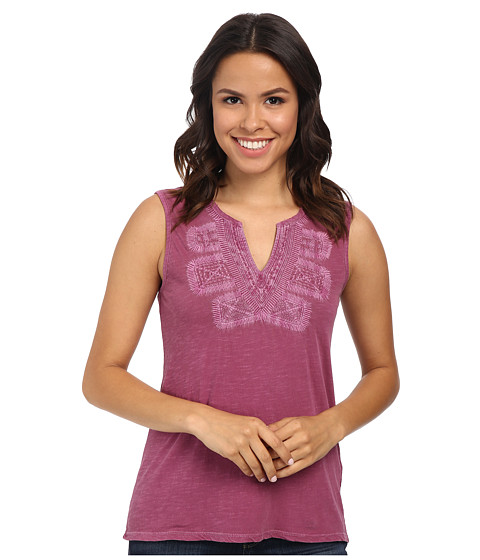 Lucky Brand - Embroidered Bib Tank Top (Rasberry Radiance) Women