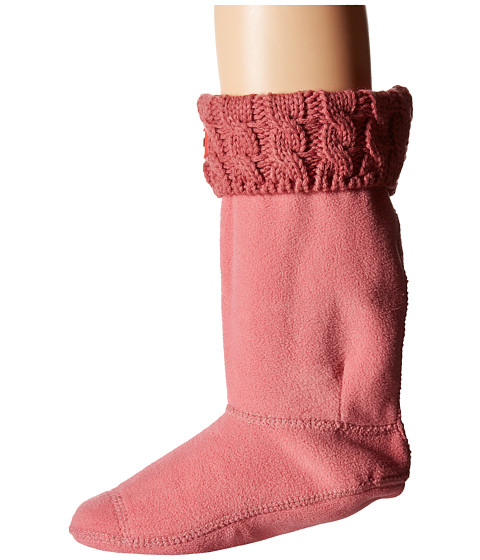 Hunter Kids - 6 Stitch Cable Boot Sock (Toddler/Little Kid/Big Kid) (Rhodonite Pink) Kids Shoes