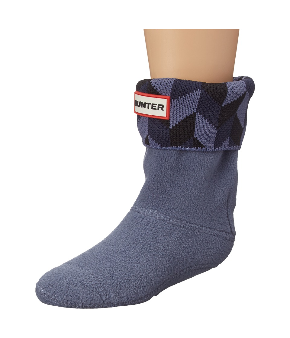 Hunter Kids - Geometric Dazzle Boot Sock (Toddler/Little Kid/Big Kid) (Black/Mineral Blue/Bright Navy) Kids Shoes