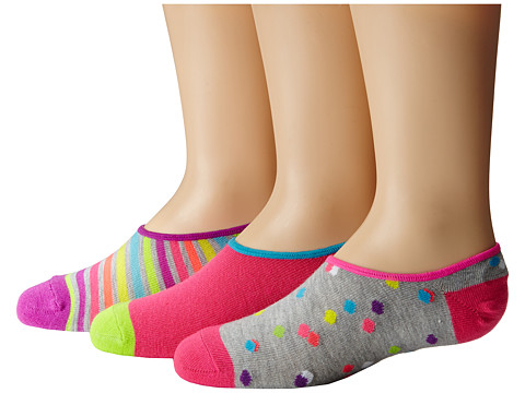 Stride Rite - Molly 9-Pack Confetti Dot Low Show w/ Silicone Heel Grip (Toddler/Little Kid/Big Kid) (Assorted) Girls Shoes