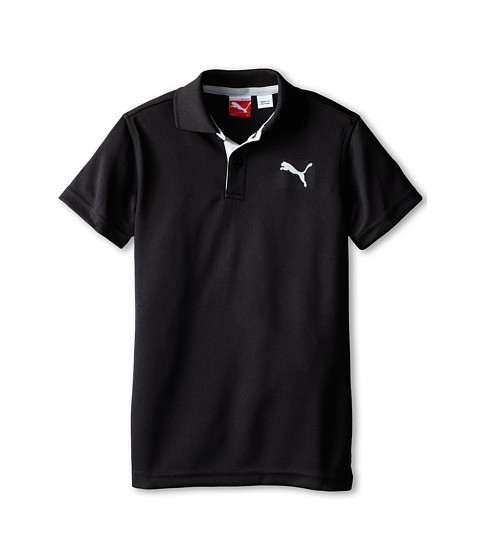 Puma Kids - Tech Polo (Little Kids) (PUMA Black) Boy