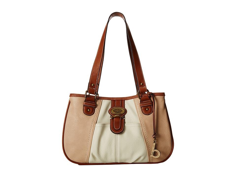 b.o.c. - Sudbury Slip Tab Tote (Bone/Stone/Walnut) Tote Handbags