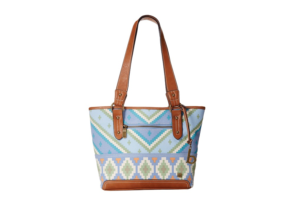 b.o.c. - Kingston Printed Tote (Blue) Tote Handbags