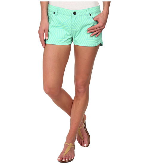 Hurley - Beachrider Five-Pocket Printed Walkshorts (Menta Basket Weave) Women's Shorts